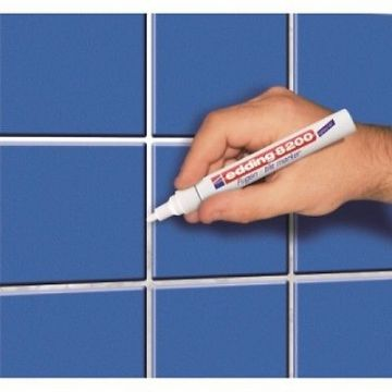 EDDING 8200 TILE GROUT MARKER WHITE - PROFESSIONAL QUALITY